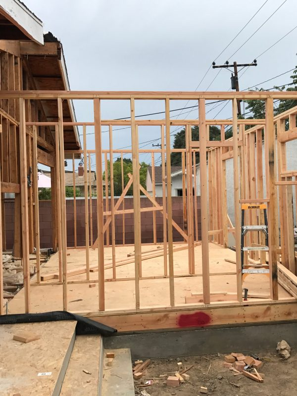 framing room addition Lakewood