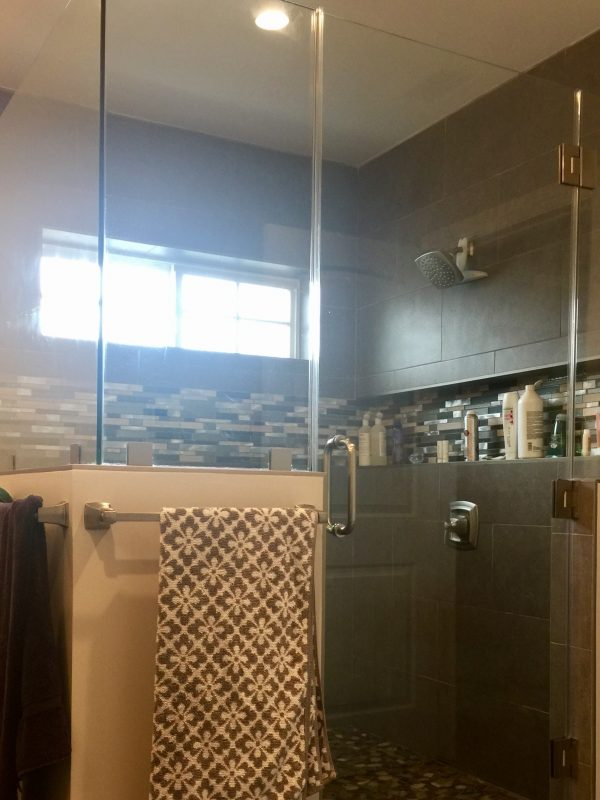 Glass Shower room addition