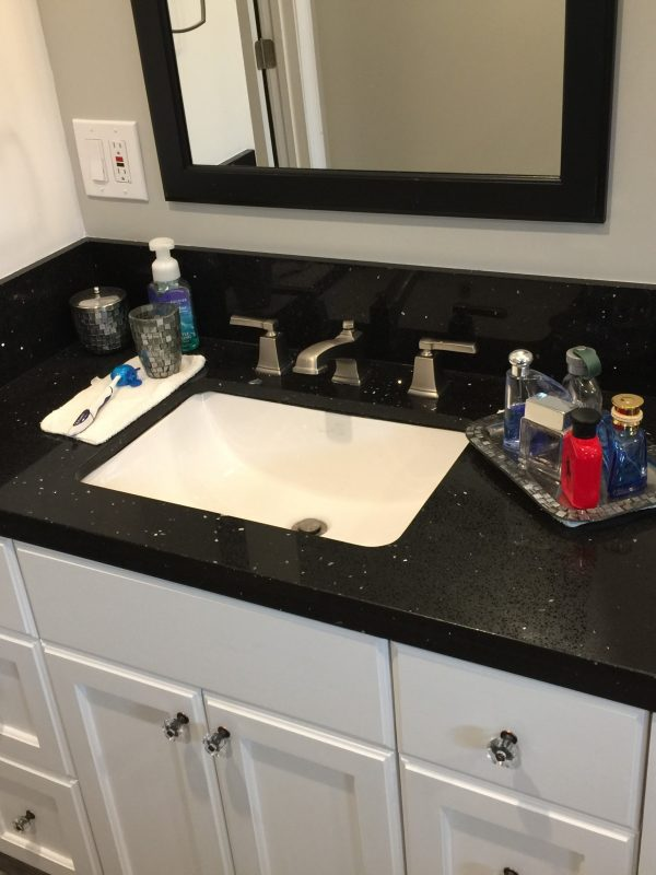contemporary vanity and sink