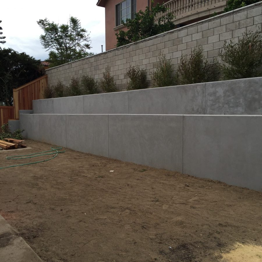 Concrete Retaining wall Huntington Beach