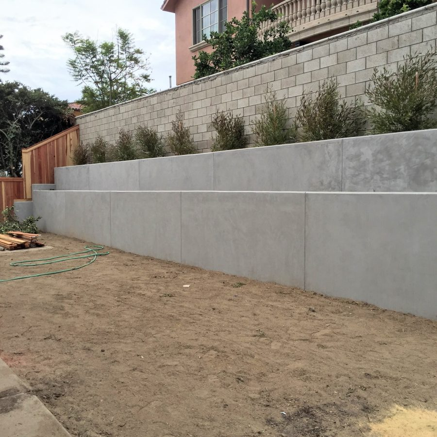 Design Concrete Retaining Wall retaining wall design principles Concrete Retaining Wall Huntington Beach